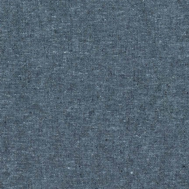 Nautical blue Essex yarn dyed linen Robert Kaufman