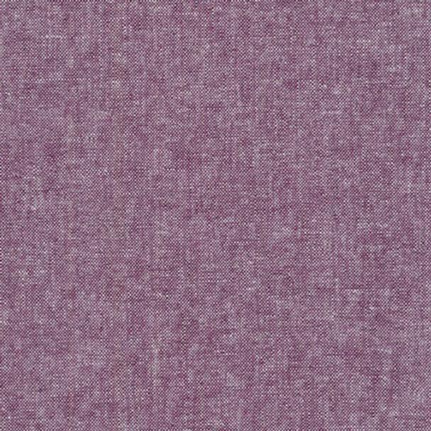Purple eggplant linen fabric yarn dyed Essex Robert Kaufman