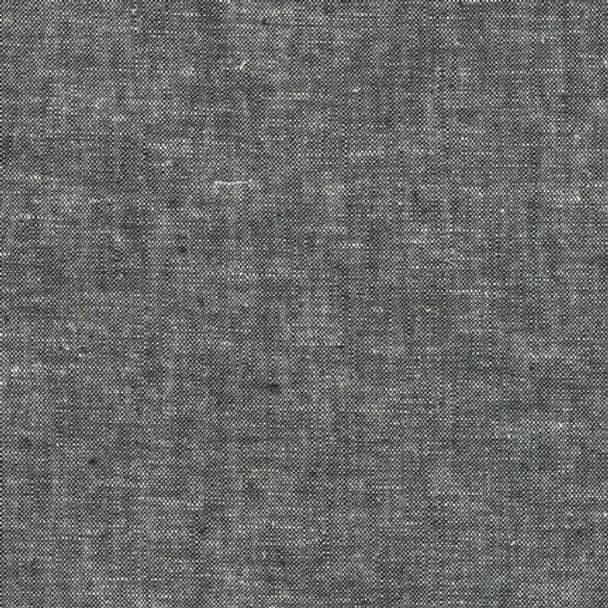 Black Essex yard dyed linen fabric Robert Kaufman