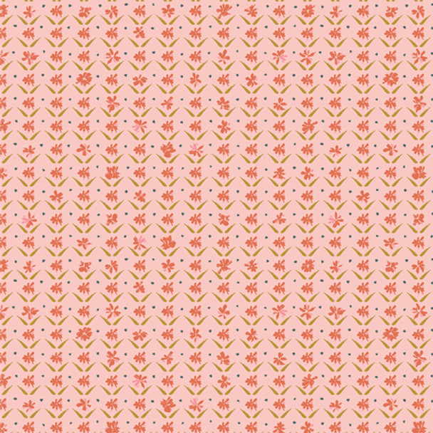 Pink Floral fabric Sweet Darling AGF Velvet quilt cotton