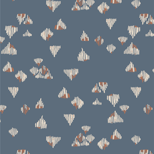 Blue Lore and Legend Spirited AGF quilting cotton fabric QTR YD