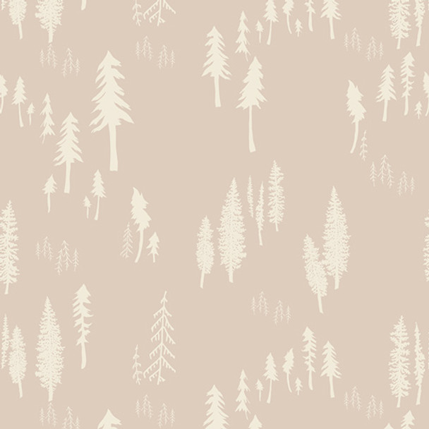 Tan Woodland Tree Forest fabric Timberland Trunk quilt cotton