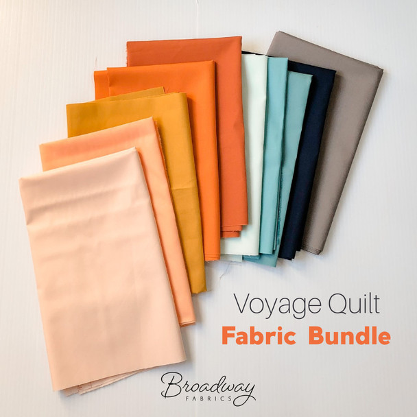 Voyage Quilt Fabric Bundle - Suzy Quilts Voyage Quilt fat quarter bundle