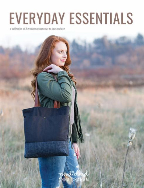 Everyday Essentials sewing pattern booklet by Noodlehead zipper pouch patterns