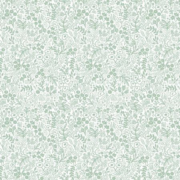Sage green Tapestry Lace basics cotton fabric - Rifle Paper Co