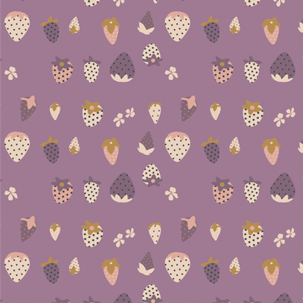 Lavender Berries cotton fabric Picking Berries AGF quilting cotton QTR YD