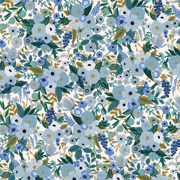 Garden Party Petite Blue floral fabric - Rifle Paper Co quilt cotton