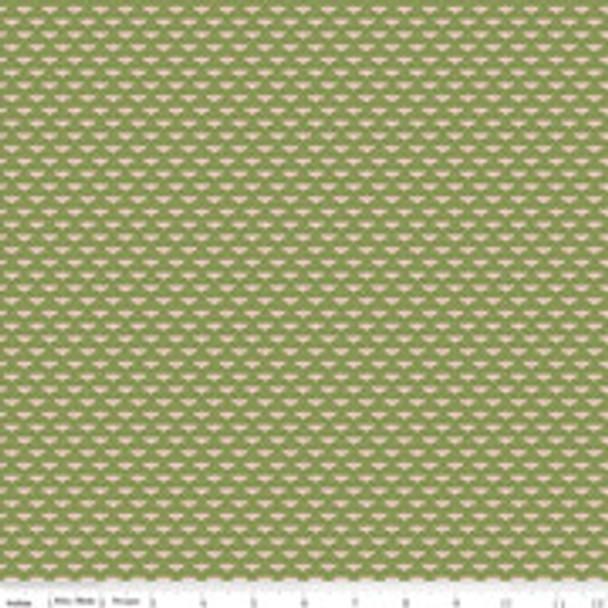 Tiny green bumble bee cotton fabric Tea with Bea Riley Blake