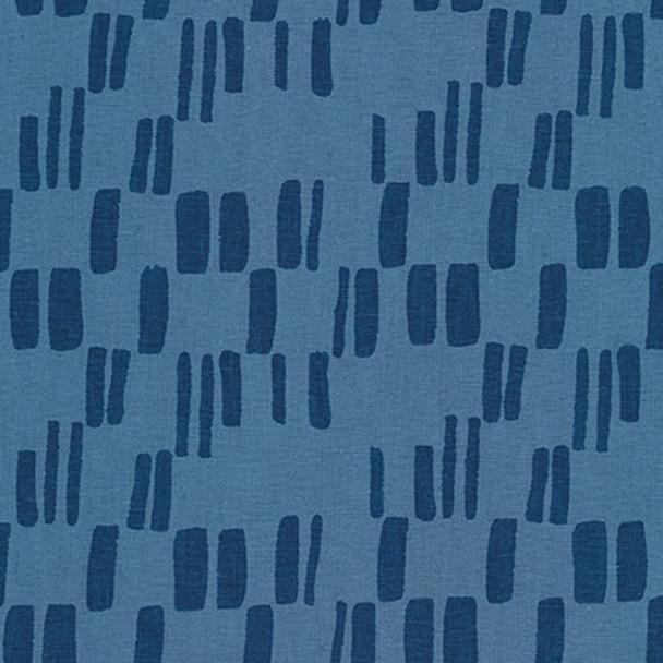 Cadet blue modern speck cotton linen Quarry Trail Robert Kaufman