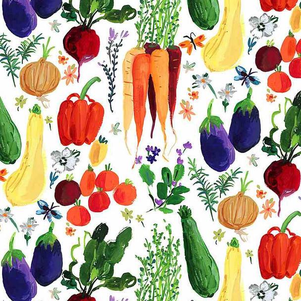 Vegetable Garden cotton fabric Veggie Haul Dear Stella Fabrics