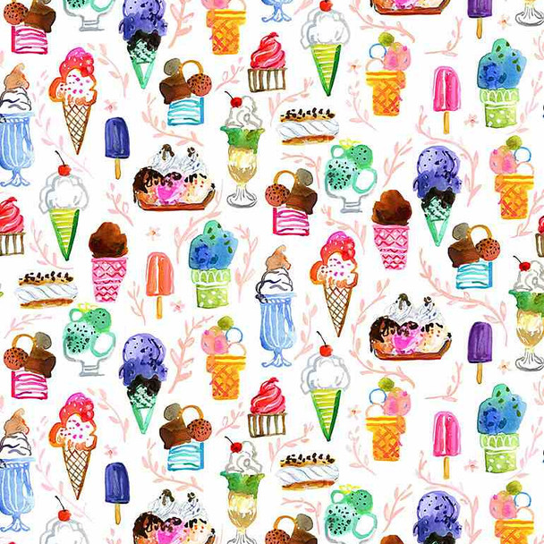 Summer ice cream sewing fabric Chef's Table Dear Stella quilt cotton