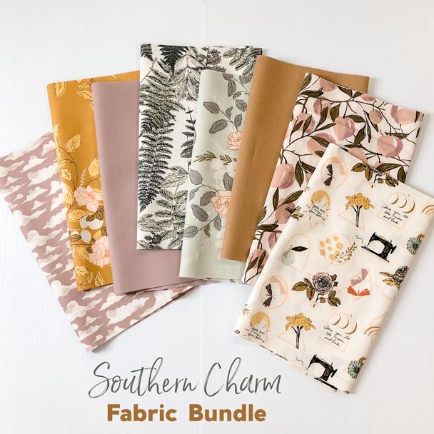 Southern Charm floral 8 piece fabric bundle - Art Gallery Fabrics quilt cotton bundle