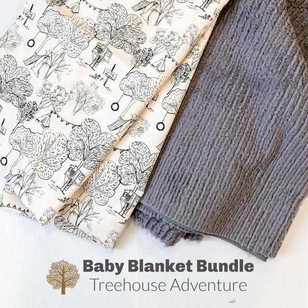 Treehouse Adventure baby blanket bundle - DIY cuddle baby toddler blanket bundle