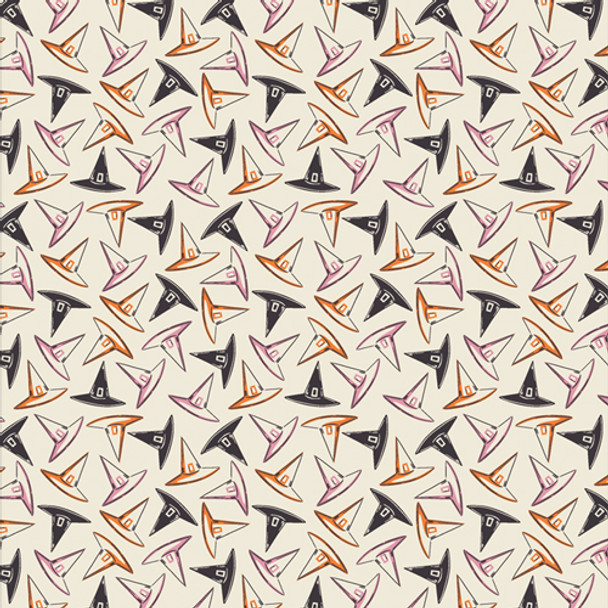 Witches hats cotton fabric - Hocus Pocus halloween sewing fabric