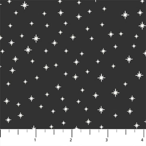 Black and white stars holiday fabric - Peppermint FIGO Fabrics