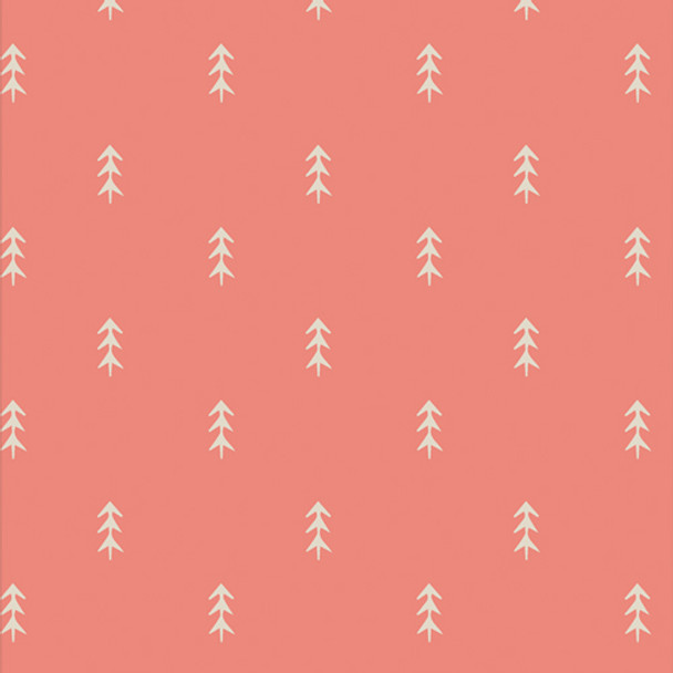 Pink Coral Tree fabric - Simple Deloliage Sugar cotton fabric Cozy Magical