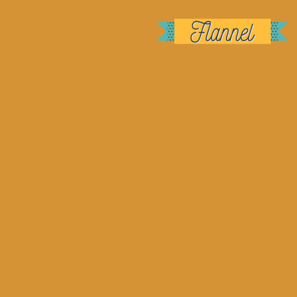 Mustard Sunflower solid FLANNEL fabric - Art Gallery Fabrics Flannel