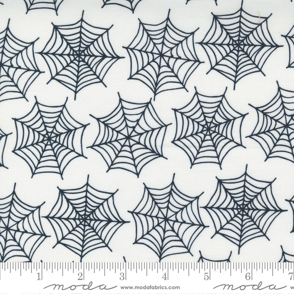 White Spider Webs - Holiday Halloween Moda Fabrics quilt cotton