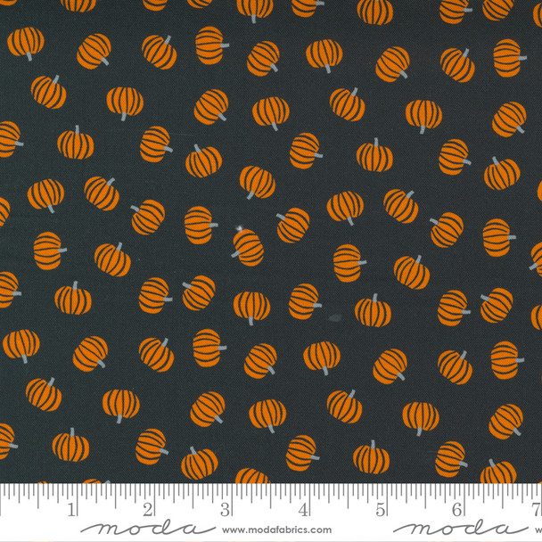 Orange Black Pumpkin fabric - Moda Holiday Halloween fabric quilt cotton