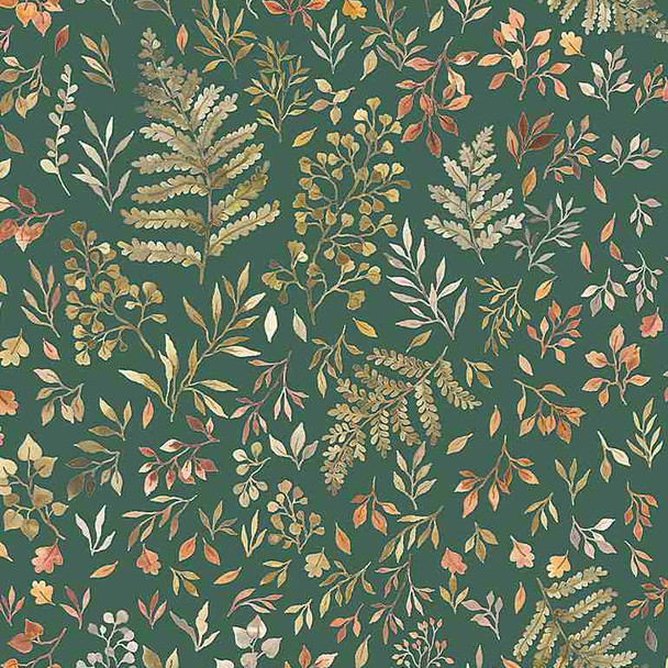 Autumn Fern Leaves Floral fabric Dear Stella fall floral fabric
