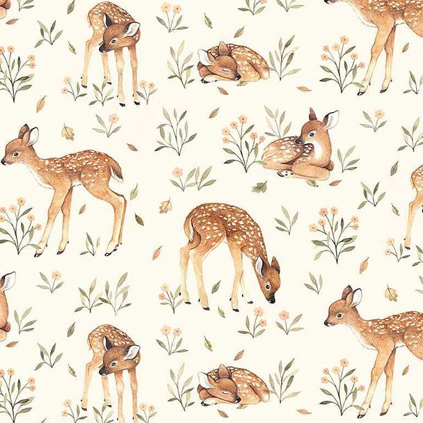 Little Fawn cotton fabric baby deer woodland fabric Dear Stella