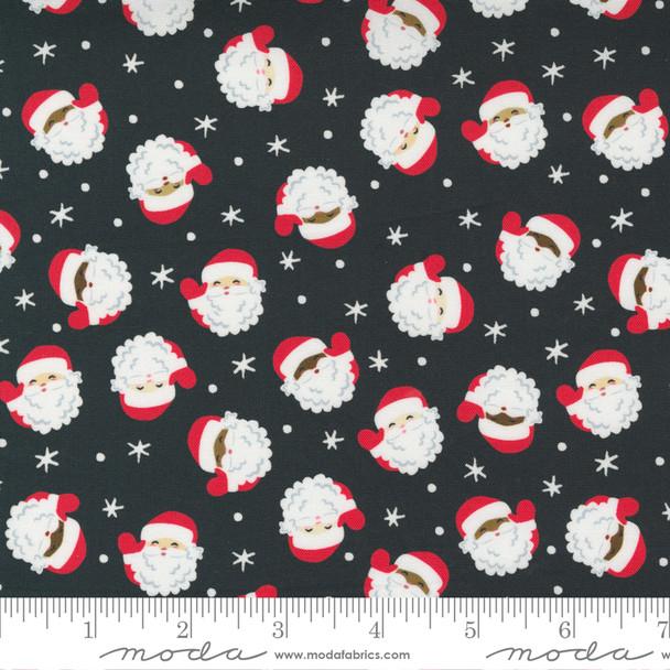 Coal Santa cotton fabric Moda Fabrics Holiday Christmas quilt cotton