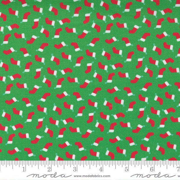 Tiny Stockings Christmas fabric Moda Fabrics quilt cotton