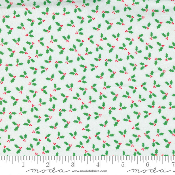 Tiny Holly Berry Christmas fabric Moda Fabrics quilting cotton QTR YD
