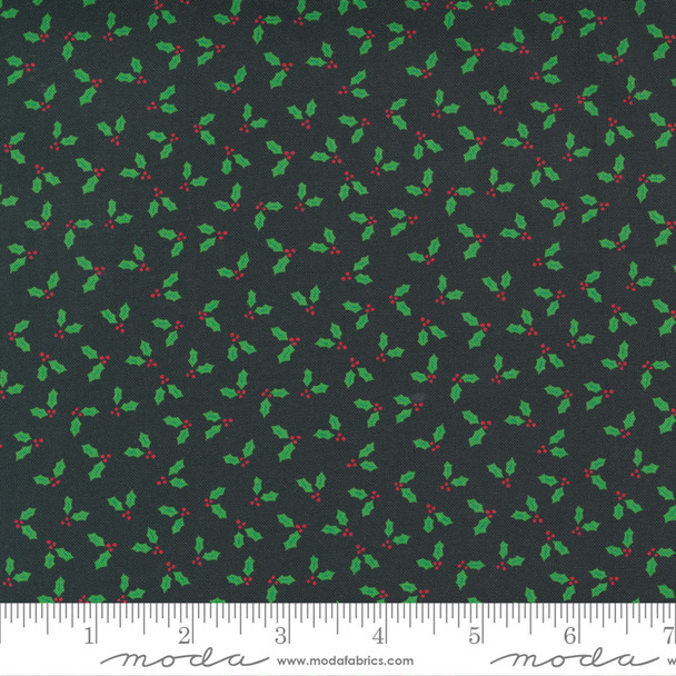 Tiny Black Holly Berry Christmas fabric Holiday Christmas quilt cotton