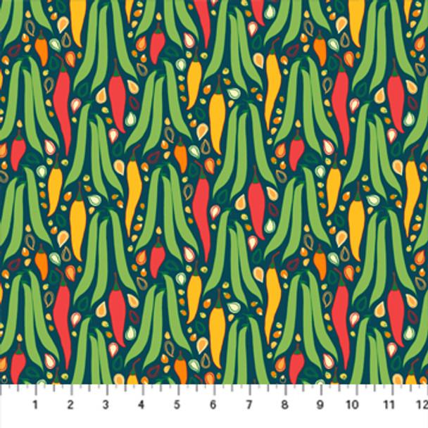 Peppers Hot Fabric Jalapeno Figo Fabrics quilt cotton QTR YD