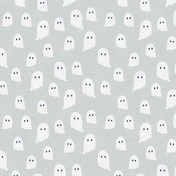 Grey Ghost fabric - Paintbrush Studio Halloween quilting cotton QTR YD
