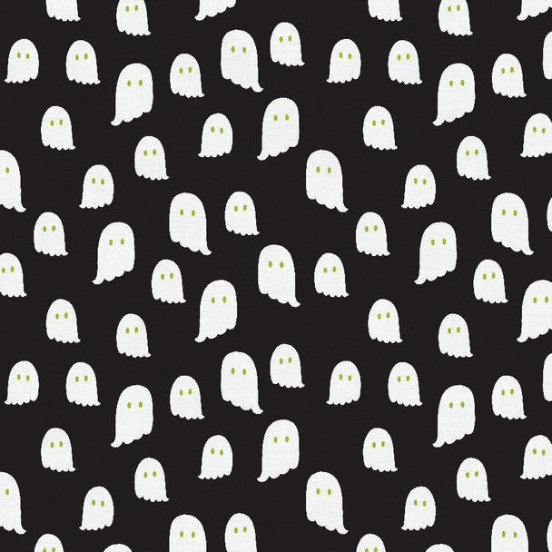 Black White Ghost fabric - PBS Fabrics Halloween Night cotton fabric QTR YD