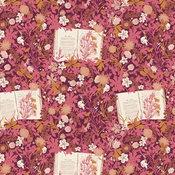 Reading Book Floral fabric - Wildest Dreams Bookish AGF quilt cotton QTR YD