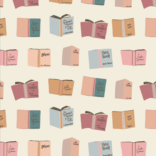 Reading Books Passport - Bookish AGF soft quilting cotton fabric QTR YD