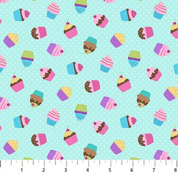 Cupcakes fabric - Dreamland Northcott Fabrics quilting cottton QTR YD