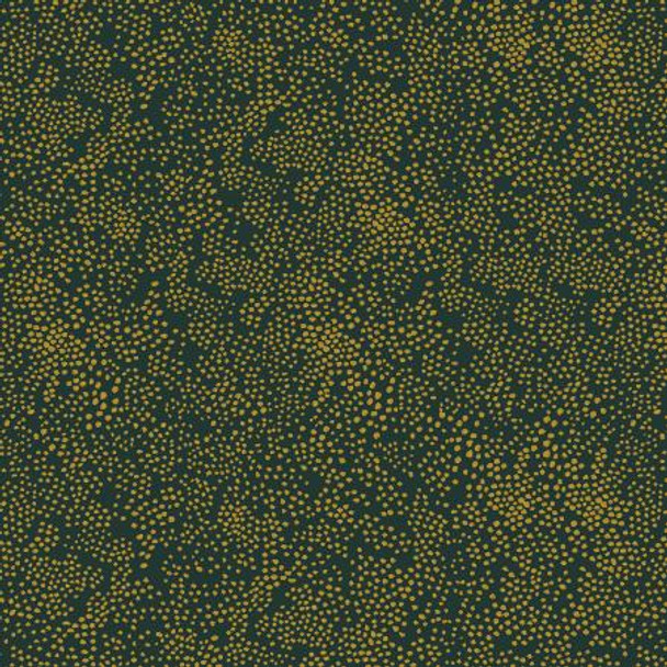 Evergreen Metallic Dot quilting cotton - Rifle Paper Co Basics Menagerie Champagne