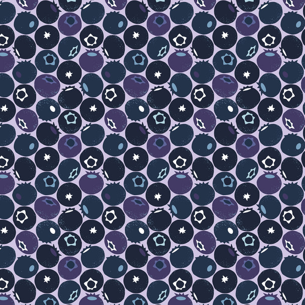 Blueberry fabric Cotton + Steel Under the Apple Tree Blueberry QTR YD