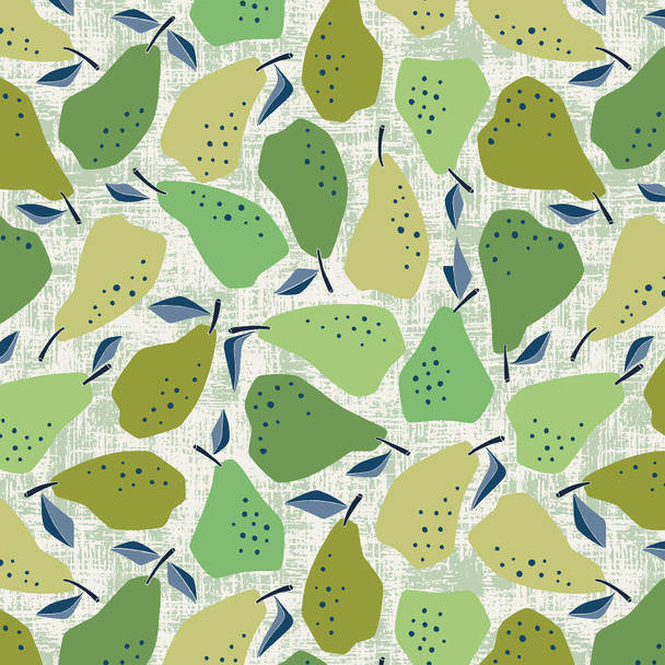 Green Pear fabric Under the Apple Tree Cotton + Steel quilt cotton QTR YD