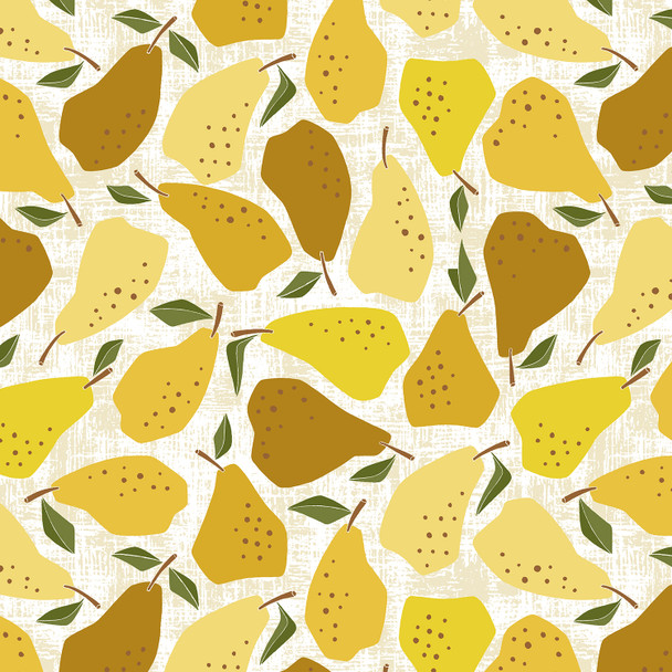 Yellow Pear fabric Under the Apple Tree Cotton + Steel quilt cotton QTR YD