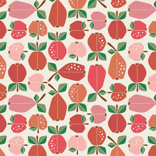 Apple Red Orchard cotton quilting fabric Under the Apple Tree QTR YD