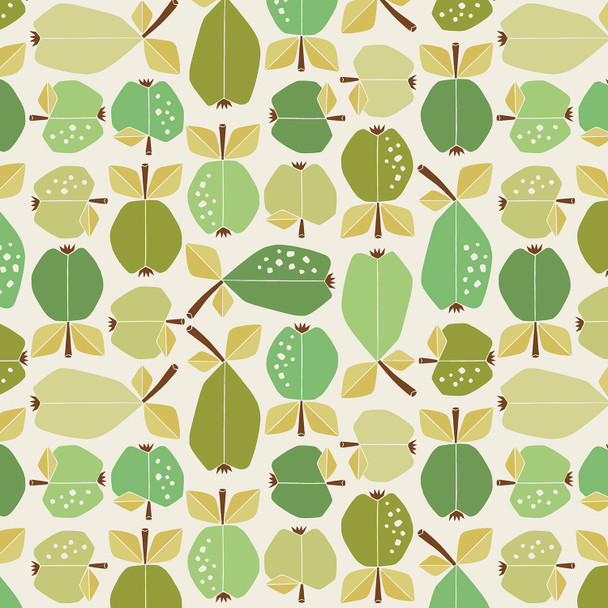 Green Apple Orchard fabric Cotton + Steel Under the Apple Tree quilting cotton
