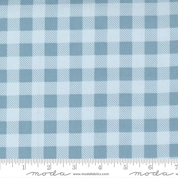 Blue Plaid cotton fabric - Moda Fabrics Make Time quilting cotton QTR YD