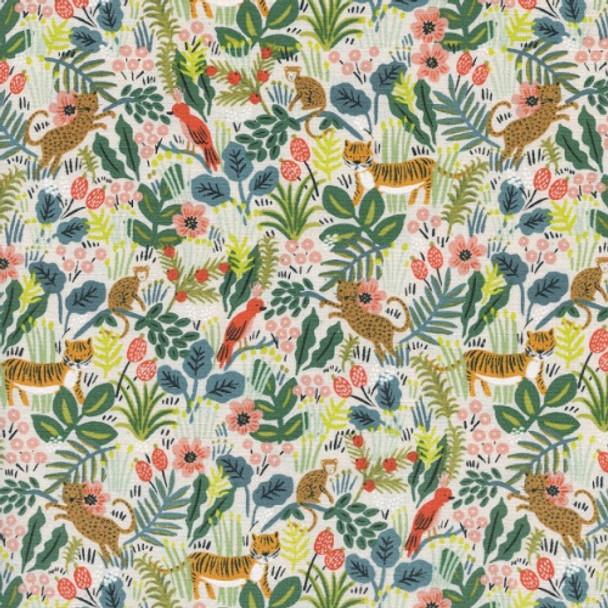 Rainforest jungle fabric, Rifle Paper Co. rainforest cotton fabric, QTR YD