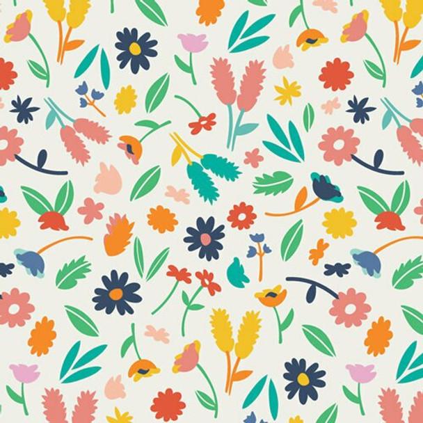 Colorful flowers cotton fabrics design