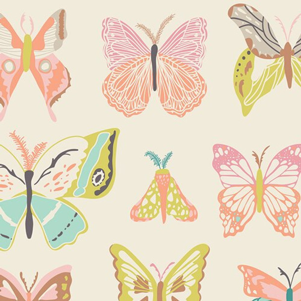 Butterfly cotton sewing fabrics design