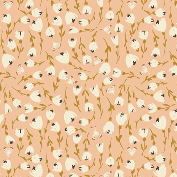 Discovered Warmth floral fabrics design