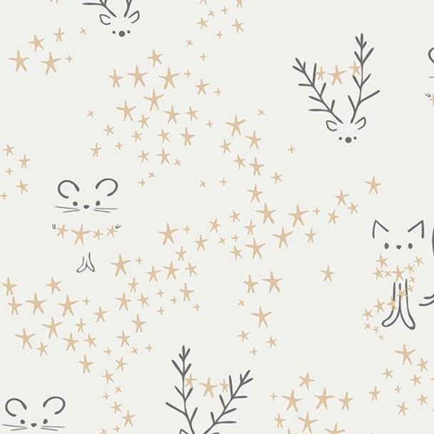 Starbright Frost Christmas Fabrics design