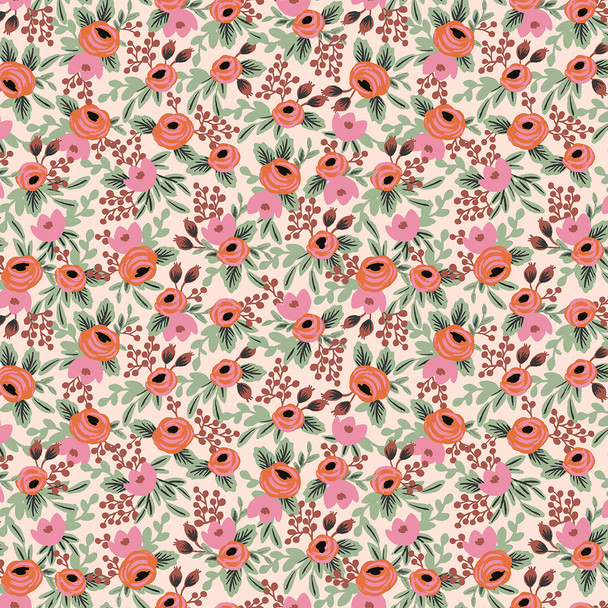 Rosa - Blush, Primavera cotton fabric, QTR YD