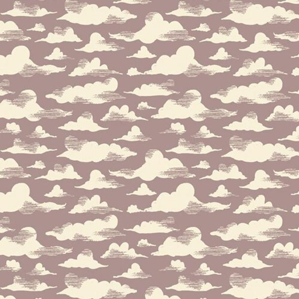 Purple cloud fabrics design