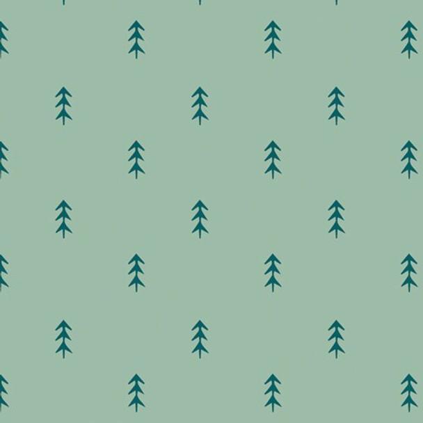 Blue green pine trees fabrics design
